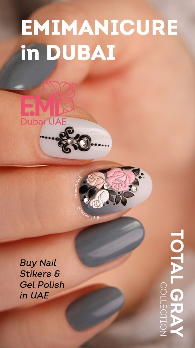DIY flower rose nail art for beautiful manicure Easy nail art ideas