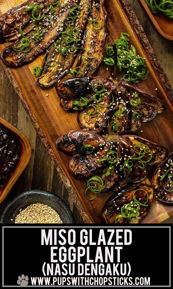 Black Garlic Glazed Miso Eggplant (Nasu Dengaku) images