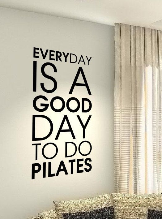 Pilates exercise Workout Motivational Fitness Gym Life workout Quote wall vinyl decals stickers DIY...