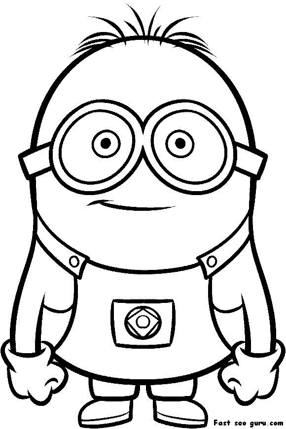 image regarding Minion Printable Coloring Page named Printable Despicable Me Minions Printable Coloring Web pages