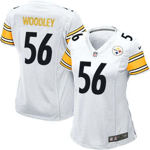 0d69f3d6d16 Nike Game Womens Pittsburgh Steelers #56 LaMarr Woodley White NFL Jersey $69.99