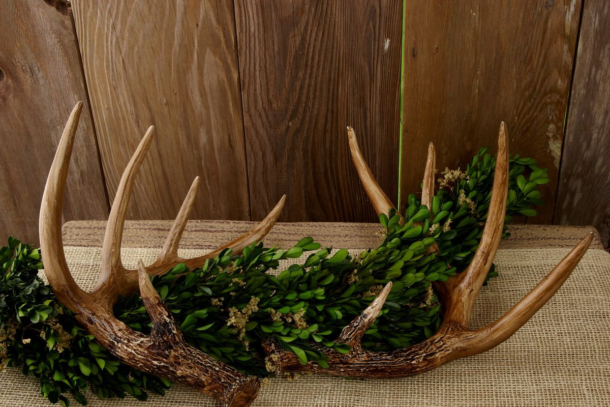 Faux Antlers 11in Set Of 2 Save On Crafts Wicker