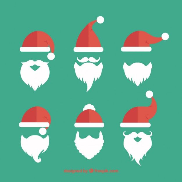 2a56070388260 Papai Noel coleção barbas Vetor grátis