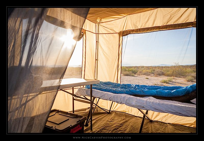 Camp Inside ARB Awning Enclosed Room
