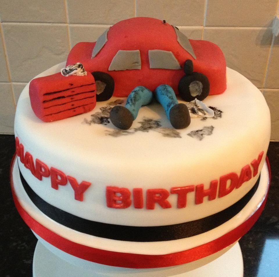 Auto Mechanic Cake Designs