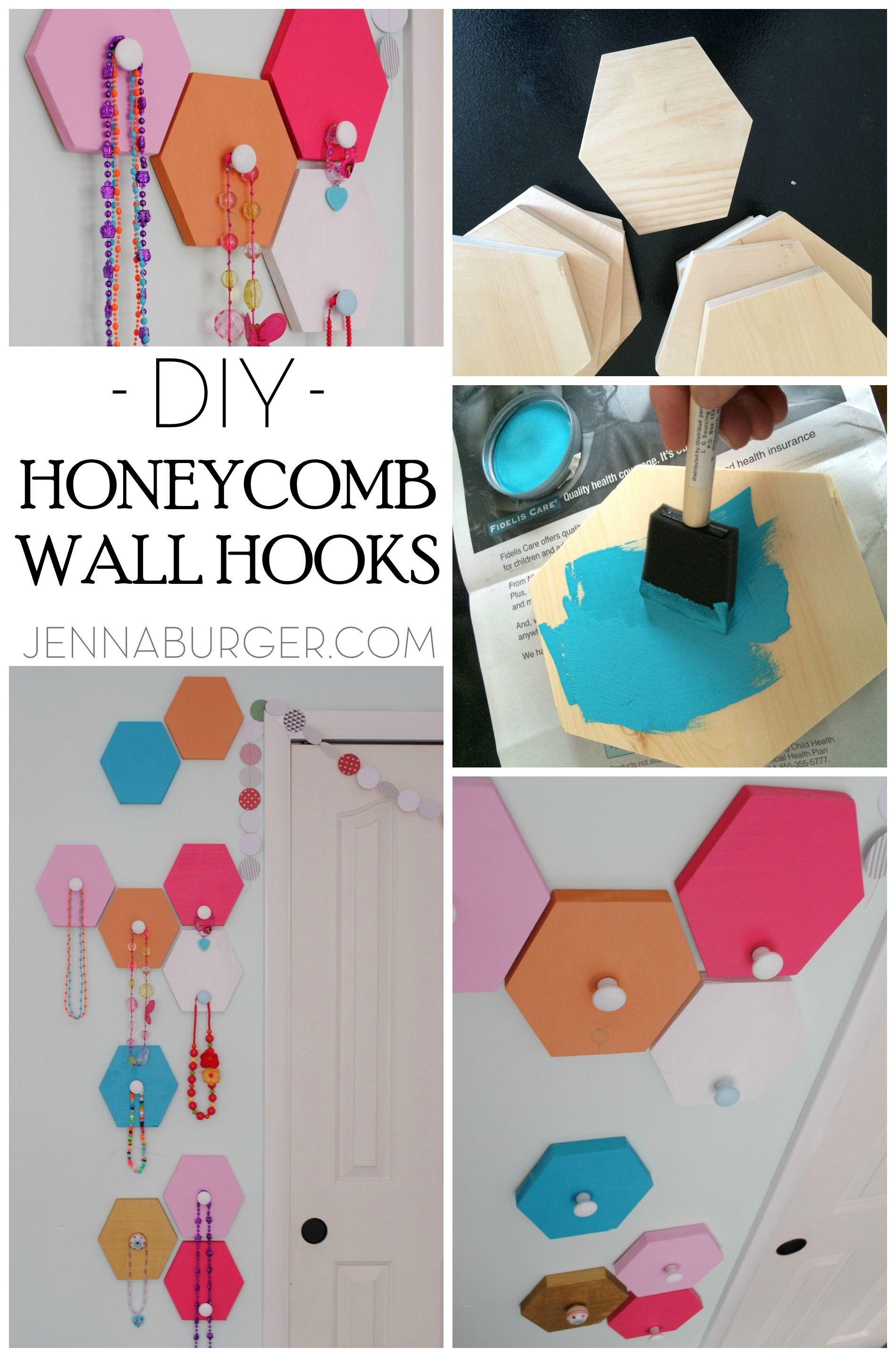 Diy Honeycomb Wall Hooks Diy Honeycomb Diy Craft Projects Honeycomb Shape
