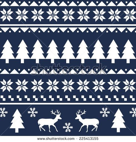 Christmas Sweater Pattern Stock Vectors & Vector Clip Art ...