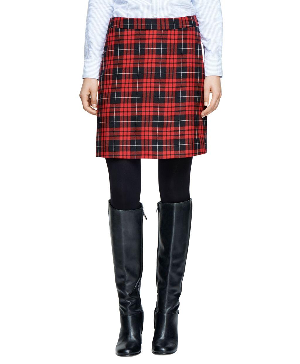 fd69fc13ec Wool Tartan Skirt - Brooks Brothers | Work Wardrobe | Skirts ...