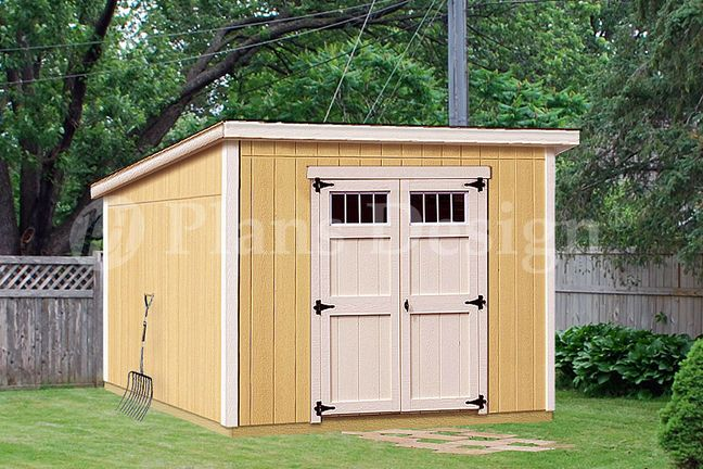 8 X 10 Deluxe Shed Plans Modern Roof Style D0810m Material List Included Diy Shed Plans 10x10 Shed Plans Shed Plans