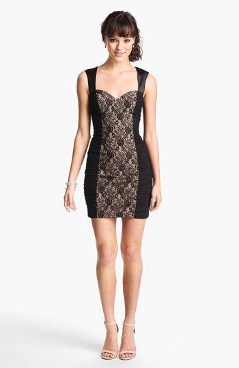 Womens Lace Sheath Pretty Body Con Short Sleeve Dress Hailey Logan nlndHQ