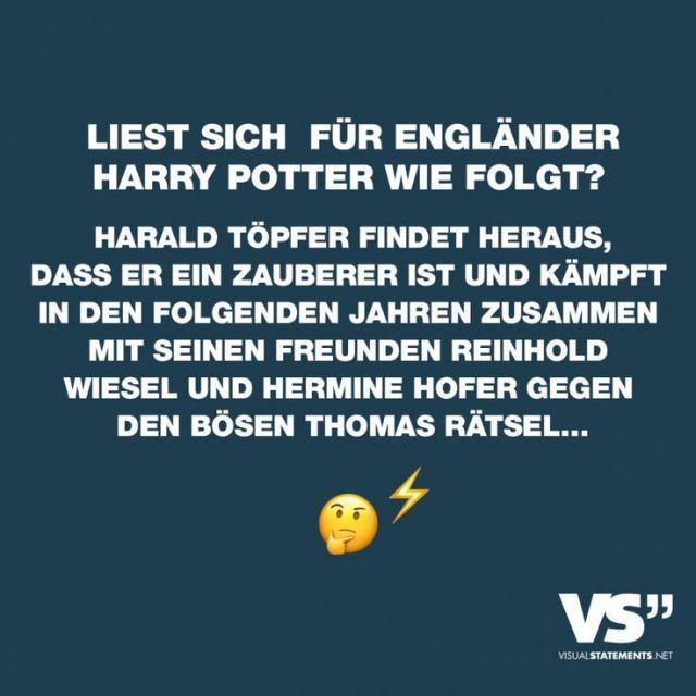 Liest der Engländer Harry Potter so? Harald Töpfer erfährt ...