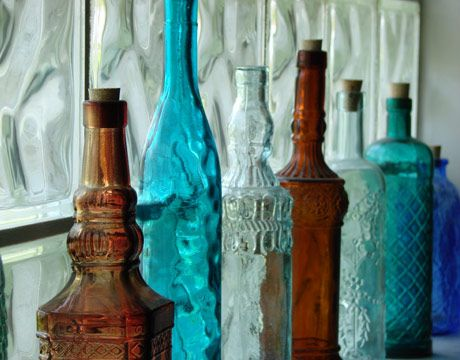Glass Bottles Decorative 38 Budgetfriendly Home Decorating Ideas  Bottle Bottle Display