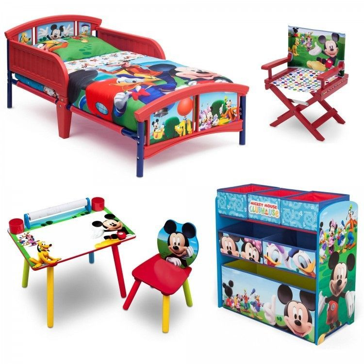 Mickey Mouse Toddler Bedroom Set Girls Boys Furniture Bed ...