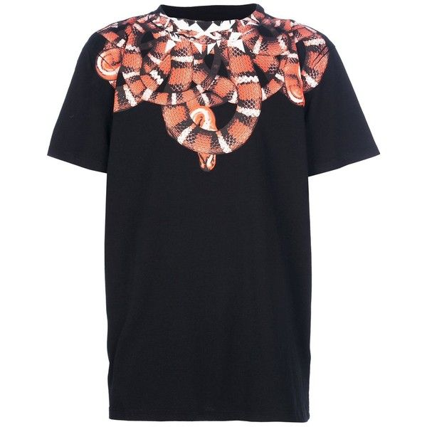 Marcelo Burlon County Of Milan T-shirt imprimé serpent ❤ liked on Polyvore featuring tops and t-shirts