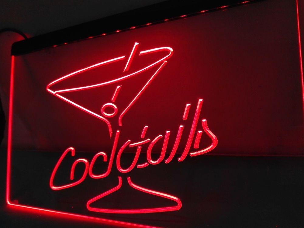 Lb522 cocktails rum wine lounge bar pub led neon light signs home lb522 cocktails rum wine lounge bar pub led neon light signs home decor crafts mozeypictures Choice Image