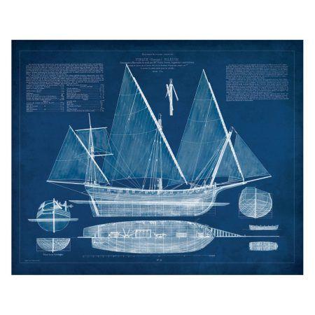Kate and laurel canvas art antique ship blueprint 30x 24 order kate and laurel canvas art antique ship blueprint canvas art blue delivered right to your door malvernweather Images