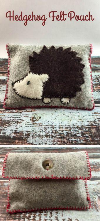 diy hedgehog bagmake a quick and easy embroidered hedgehog