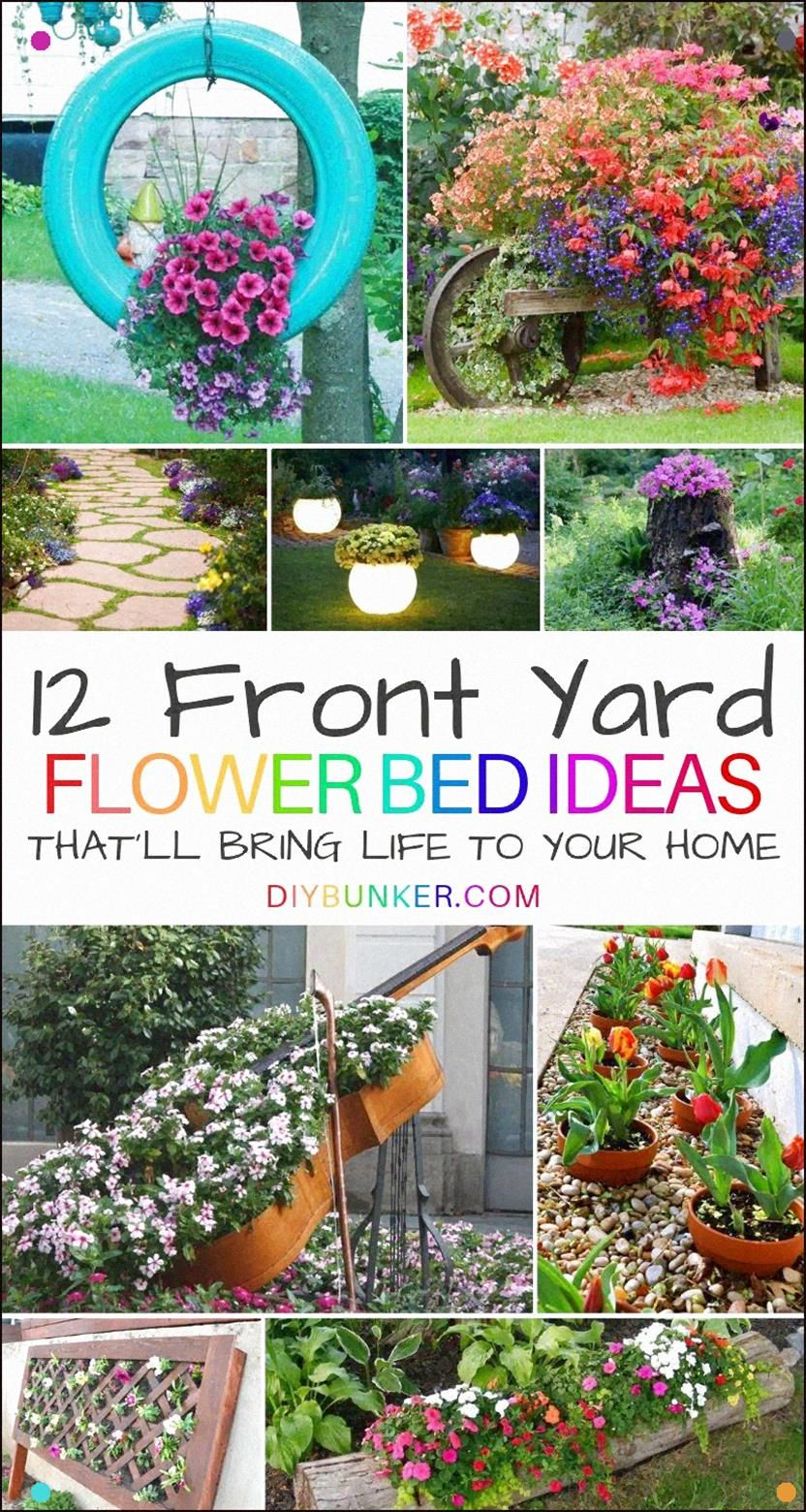 12 front of house flower bed ideas thatll add color to