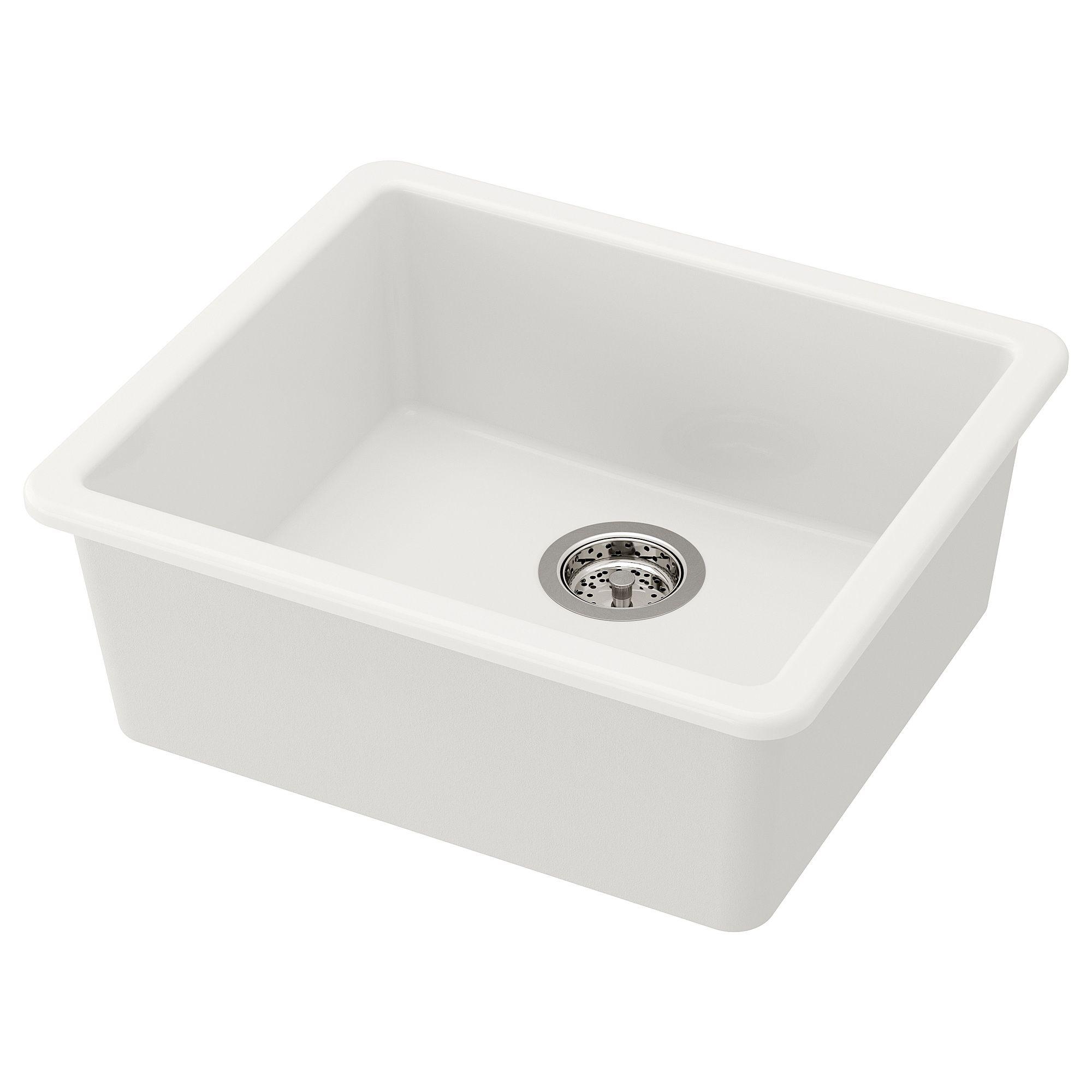 IKEA HAVSEN Sink white Sink, Ikea sinks, Inset sink