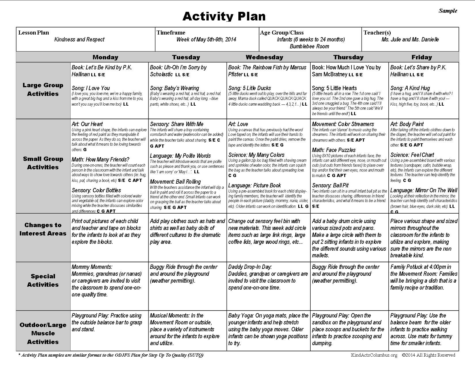 Toddler curriculum lesson plans yahoo image search for Activity programme template