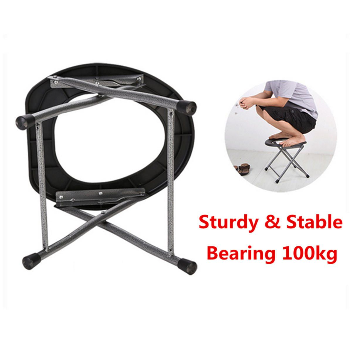 Surprising Ipree Portable Folding Toilet Stool Old Pregnant Women Sit Squirreltailoven Fun Painted Chair Ideas Images Squirreltailovenorg