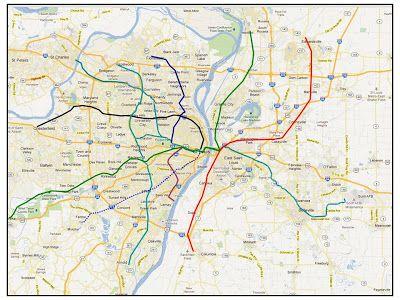 Subway Map Sheepshead Bay.St Louis Fantasy Transit Fantasy Map Map Subway Map