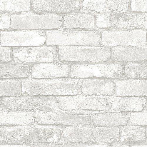Robot Check White Brick Wallpaper Brick Effect Wallpaper White Brick