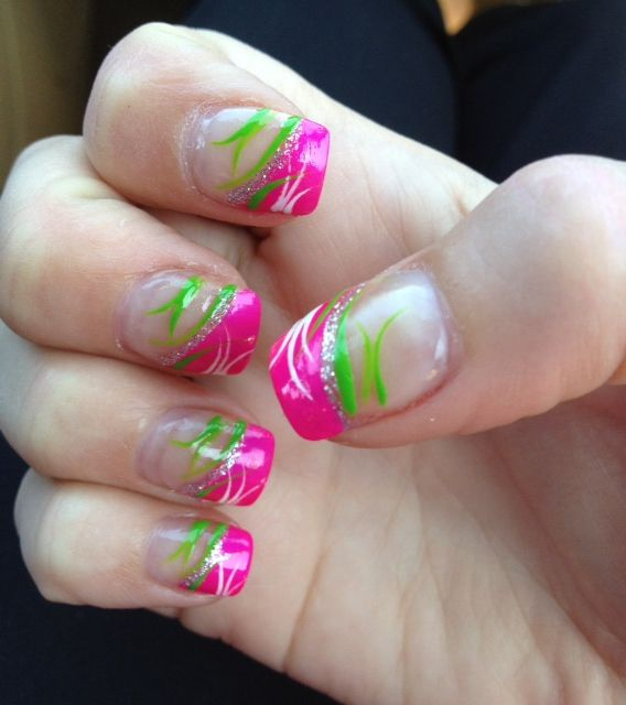 summer hot pink and lime green