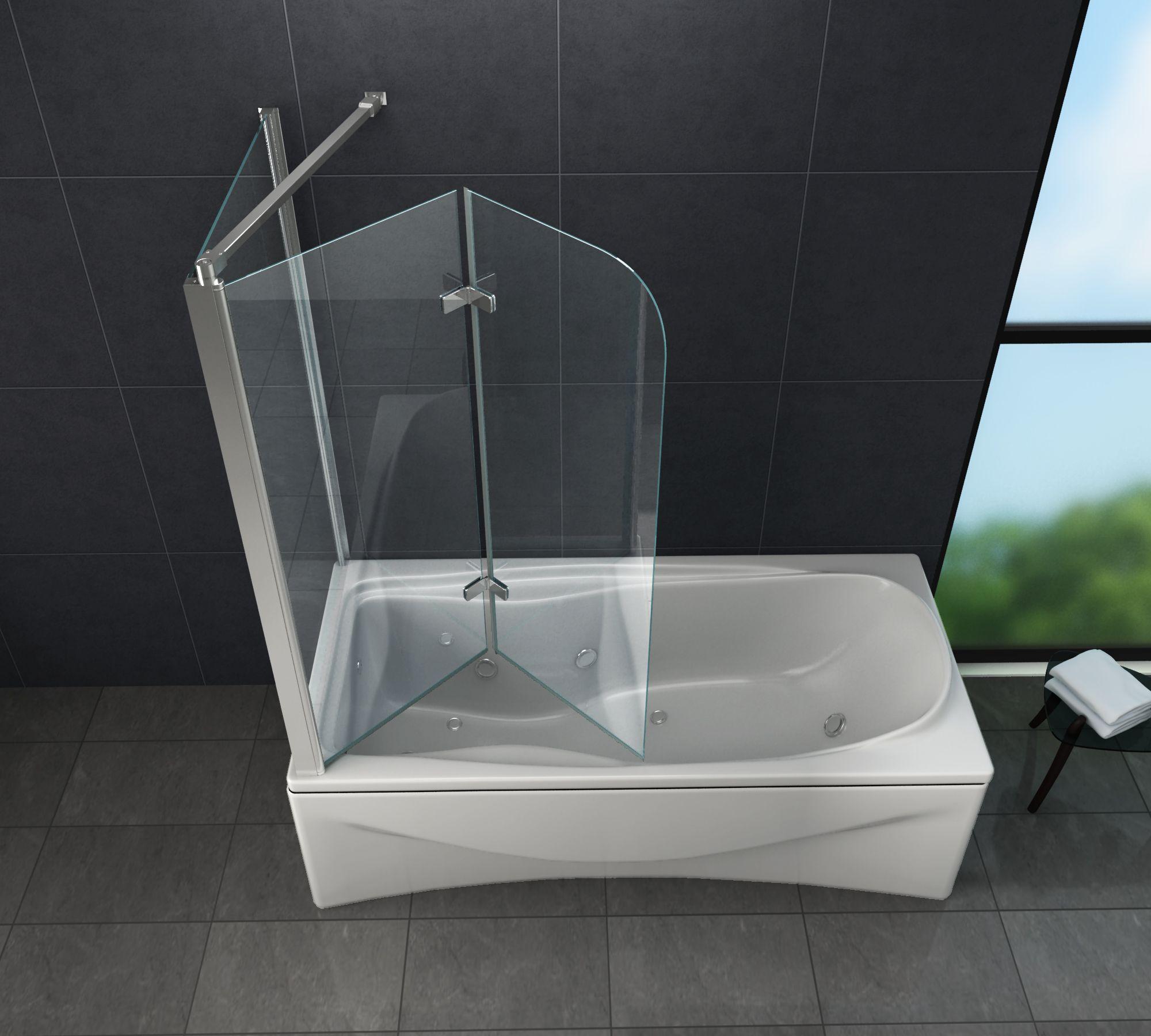 Eck Duschtrennwand AROUND 20 Badewanne   Duschabtrennung ...