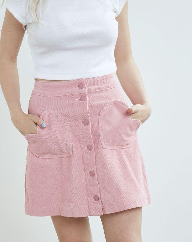 c7193c80d Lazy Oaf Heart Cord Skirt - Skirts - Categories - Womens | Shut up ...