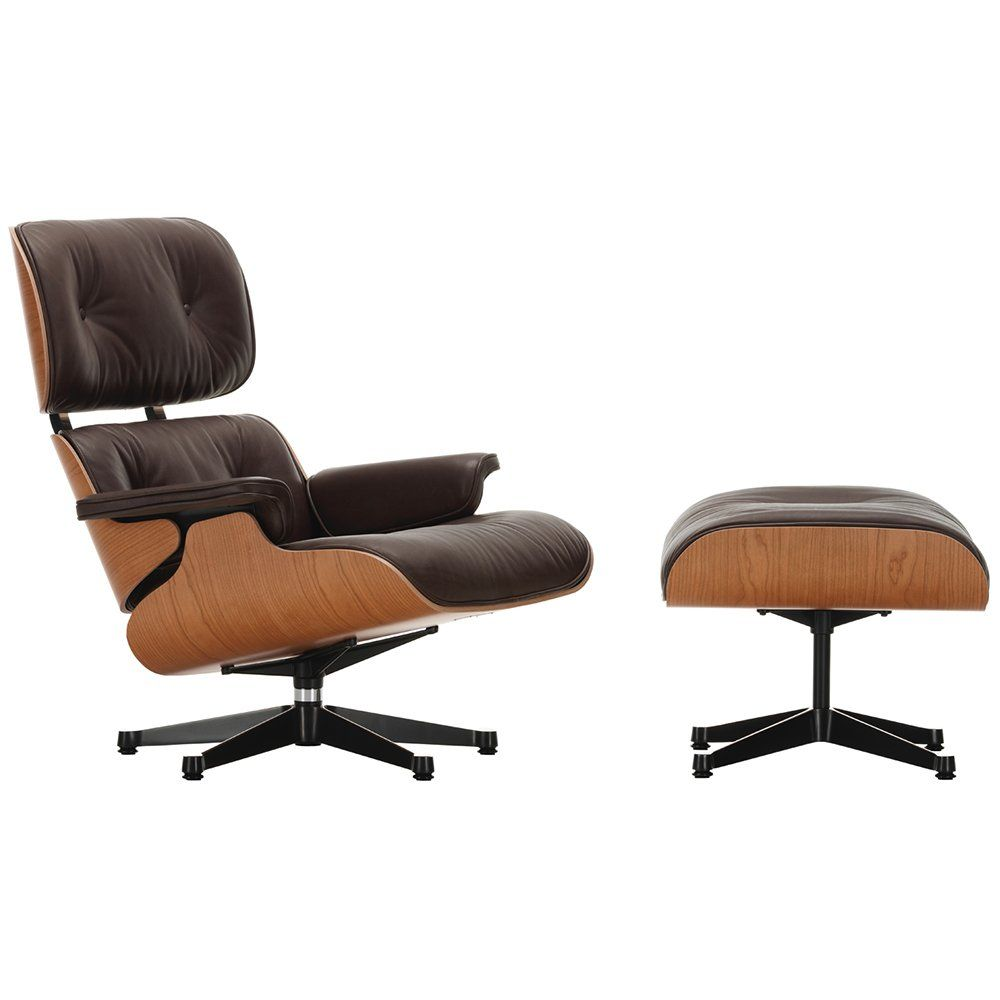Vitra Eames Lounge Chair Dwg Eames Lounge Chair Ottoman American Cherry Wood Leather Natural