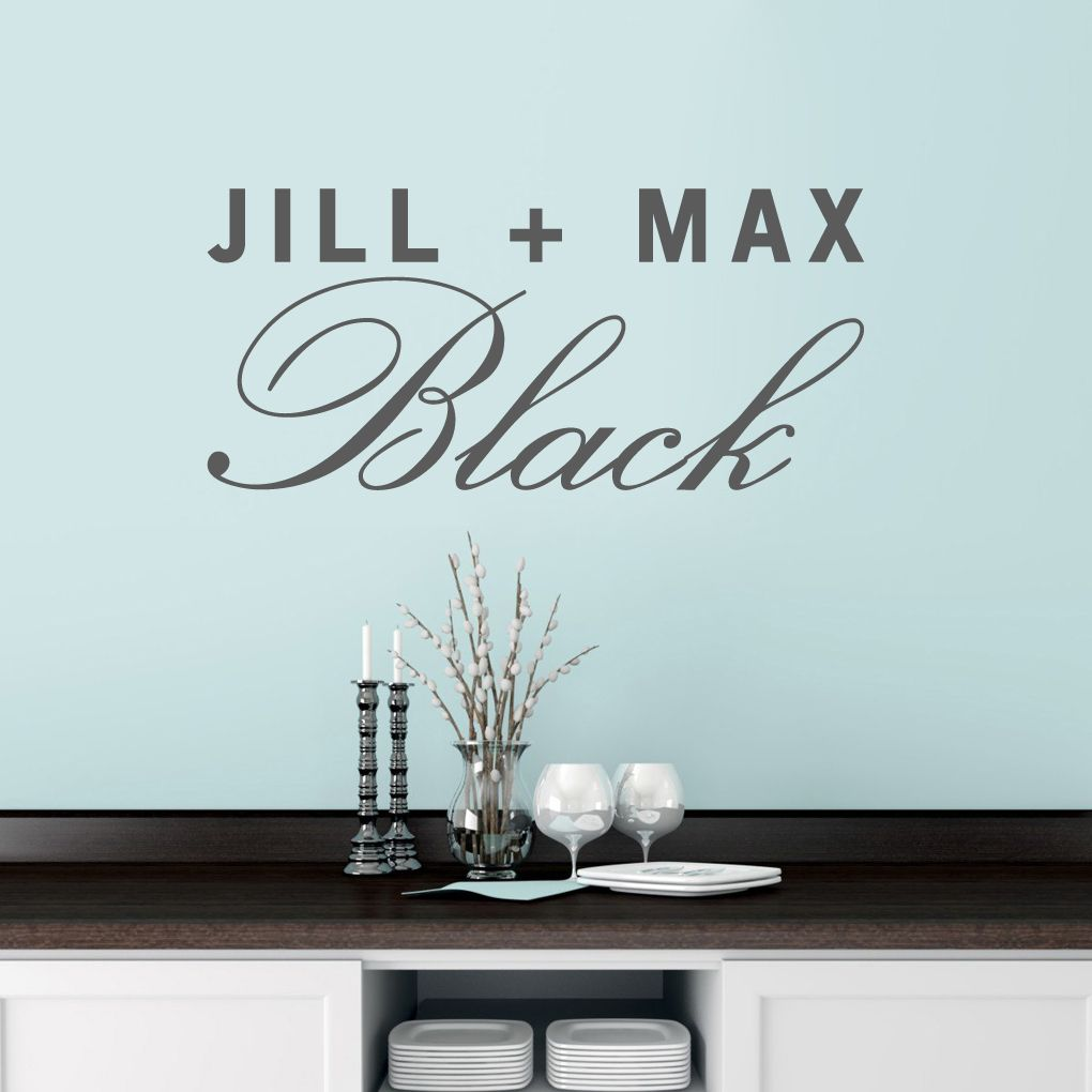 Custom Couple Name Wall Decal Name Wall Decals Personalized Wall Decals Custom Wall Decals