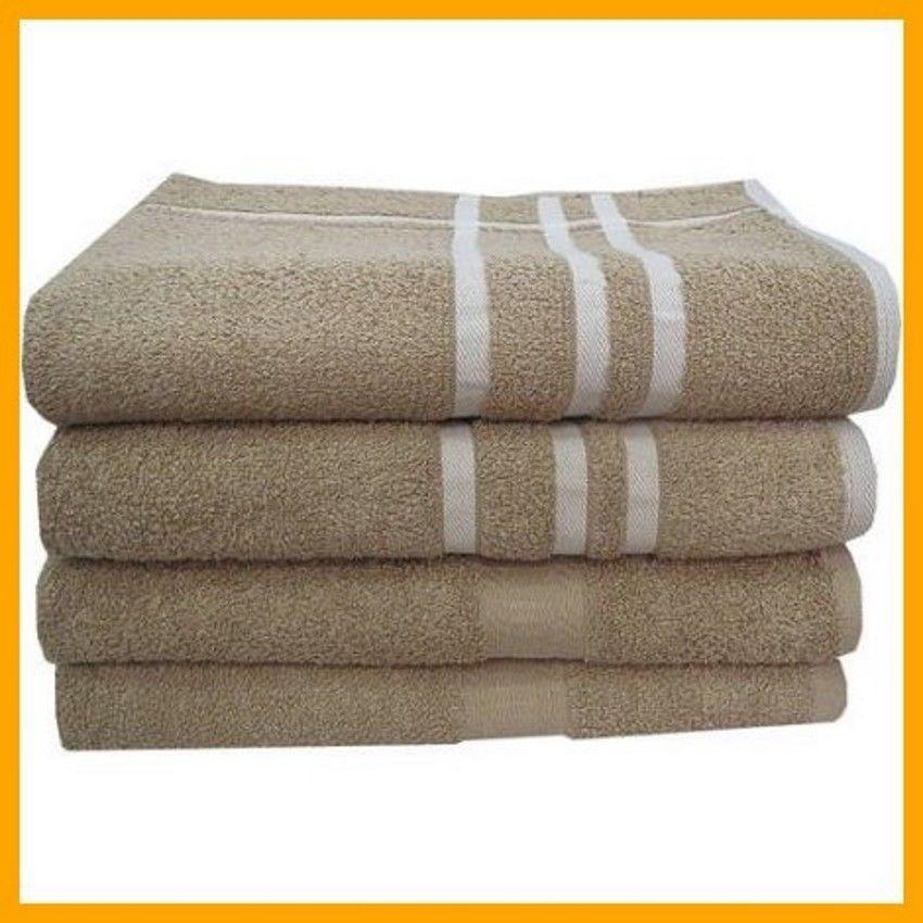 Bath Towels Super Soft 100 Cotton Big Bathing Bathroom Towels Set 4 Piece Tan Mainstays With Images Towel Set Bath Towel Sets Towel
