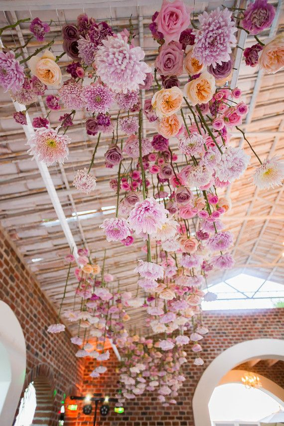 floral ceiling installation   beautiful floral design ...