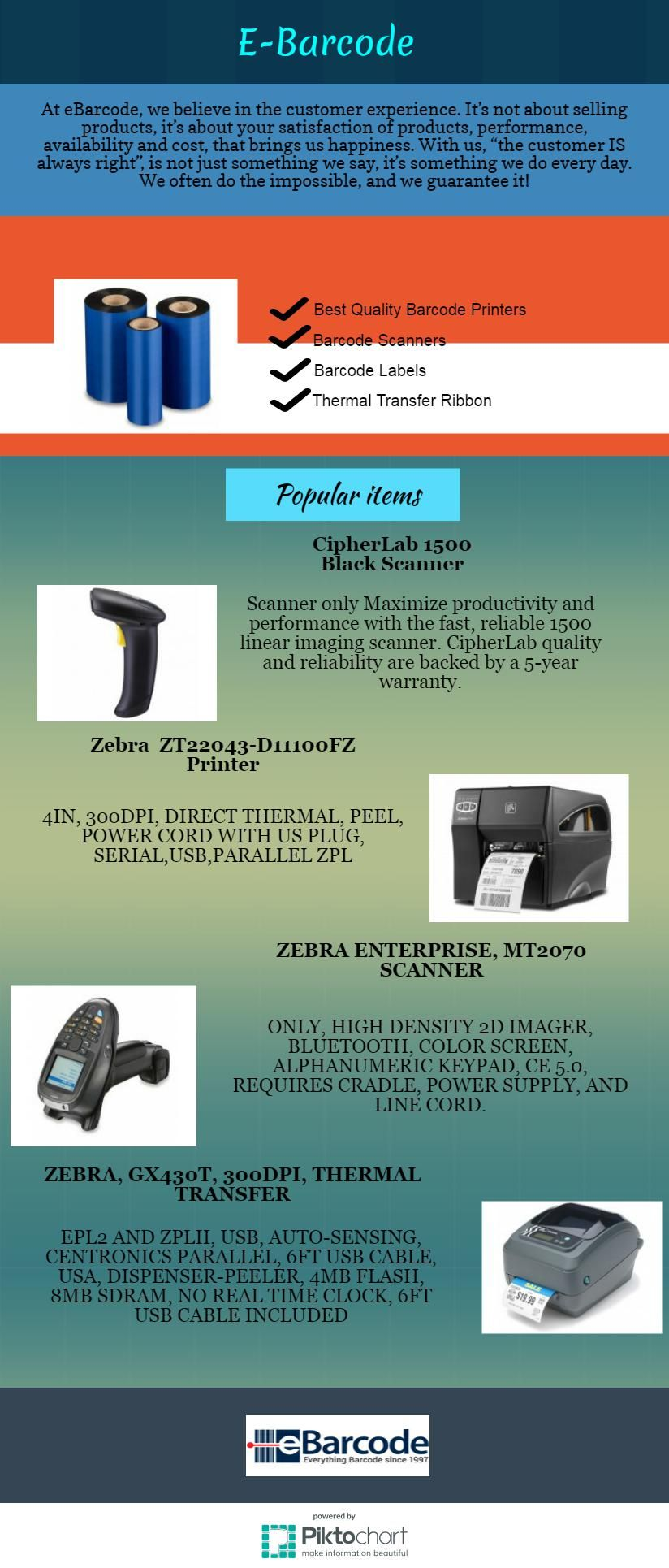 Find here huge collection of barcode supplies and many