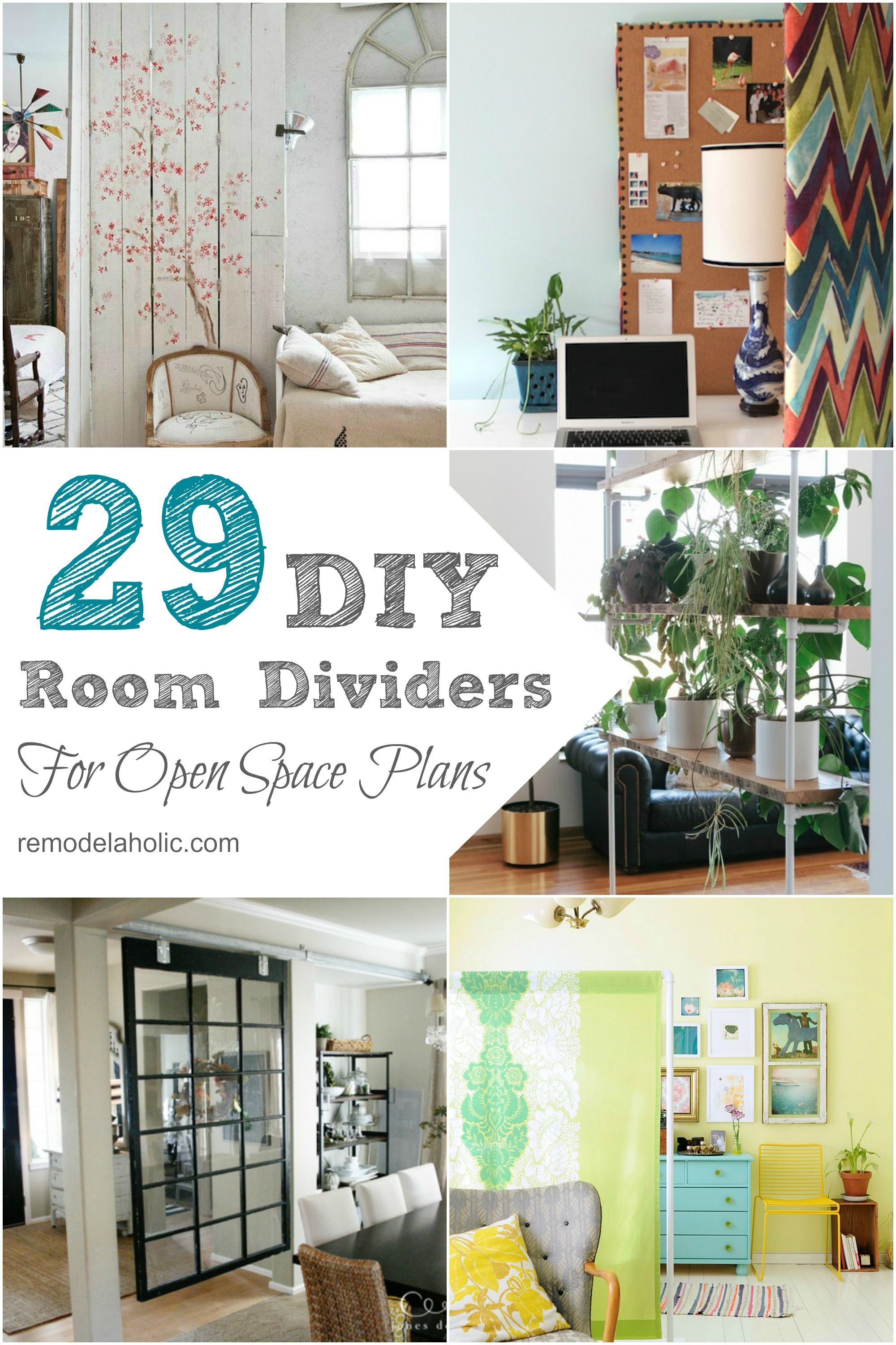 29 creative diy room dividers for open space plans | diy room