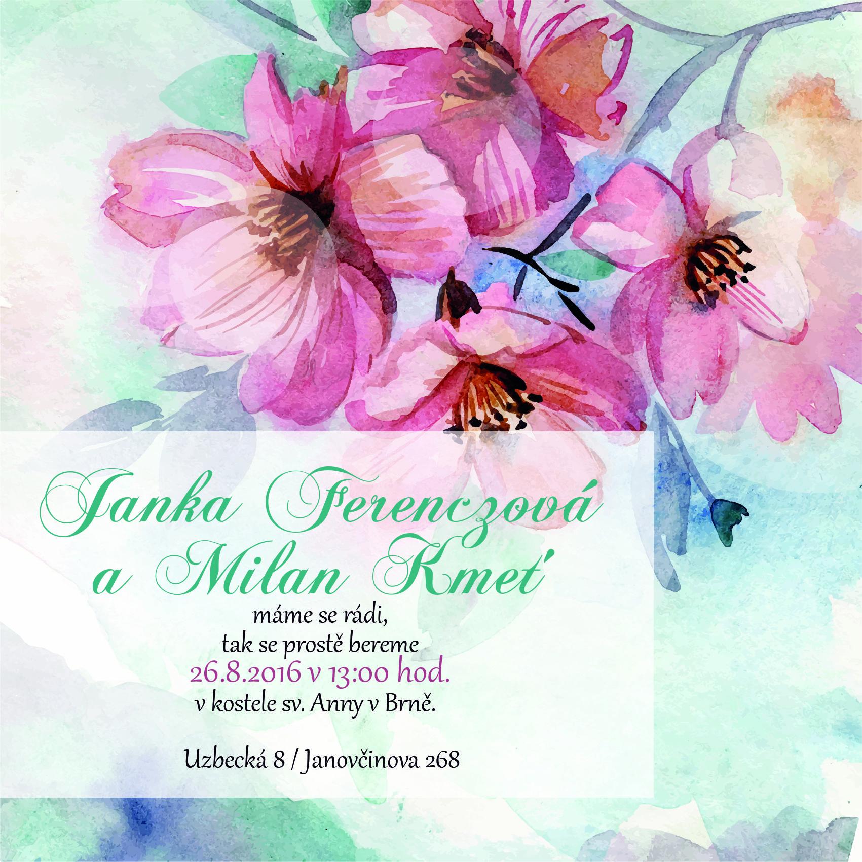 Svatební oznámení KSO47- online svatební oznámení