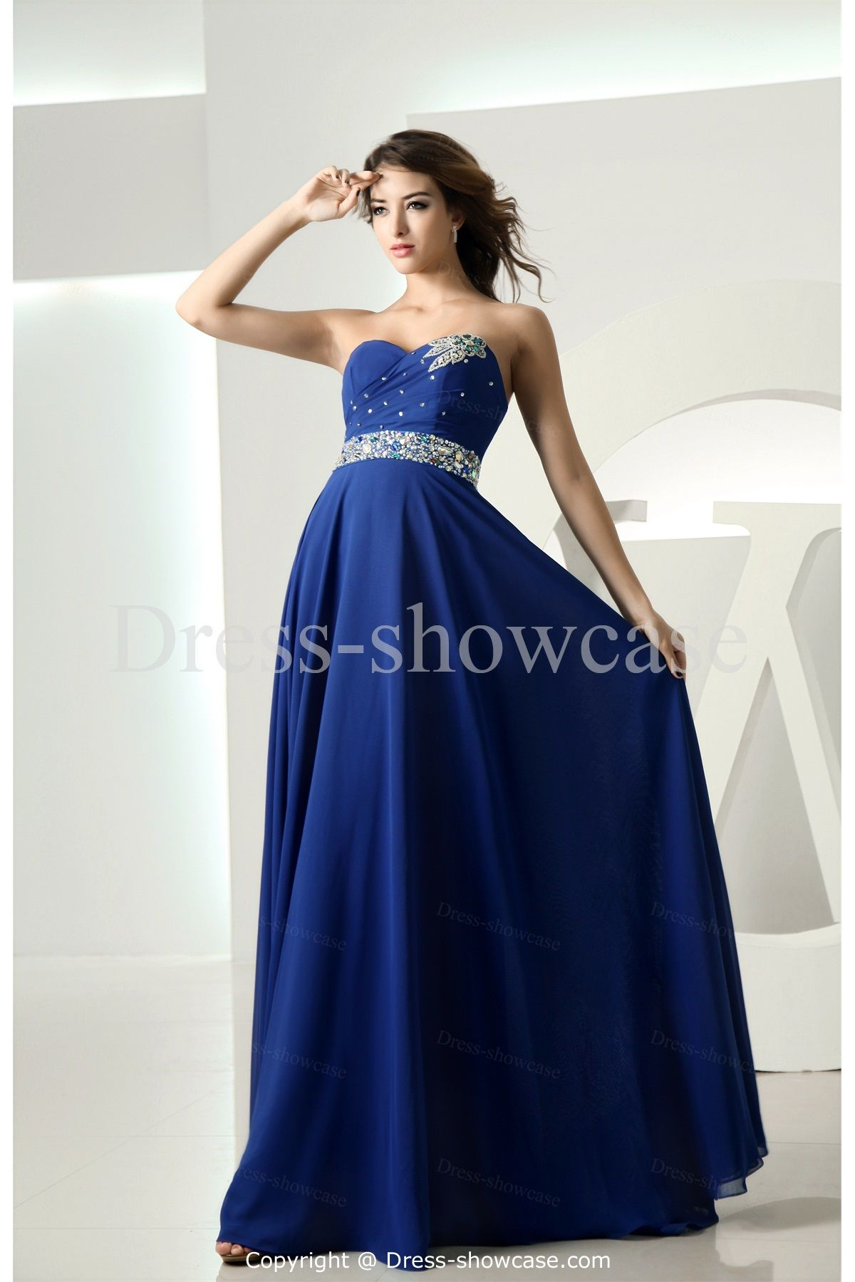 Chiffon Blue Dress