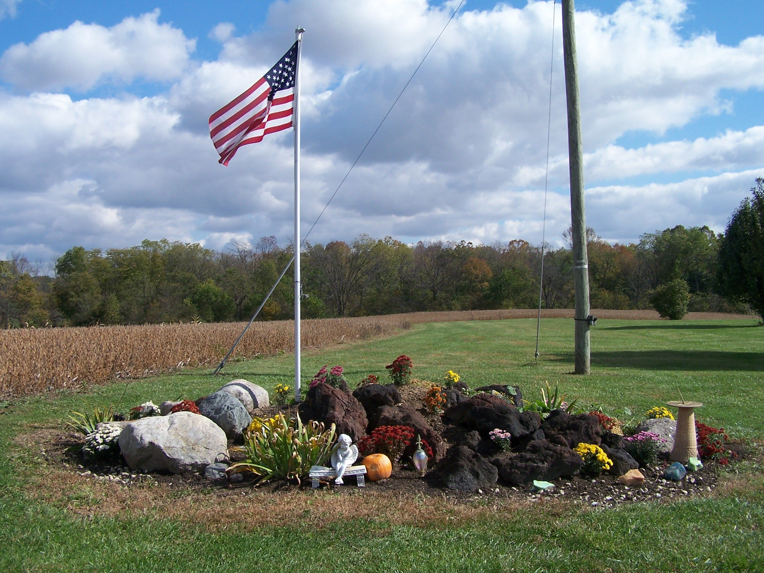 flag pole rock garden my gardens my photos pinterest
