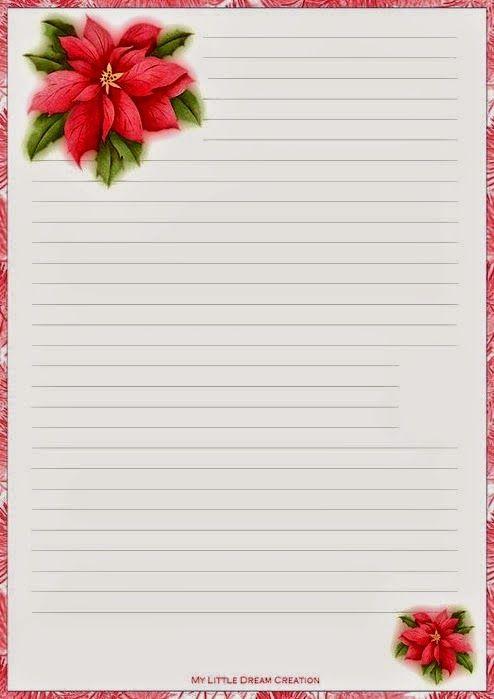 para imprimir hojas cartas navideñas printable christmas