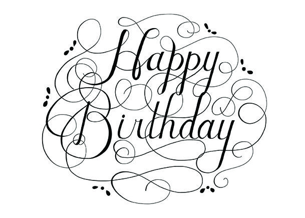Happy Birthday Black And White Clipart Panda Free Clipart Images Hand Lettering Practice Lettering Practice Happy Birthday Black