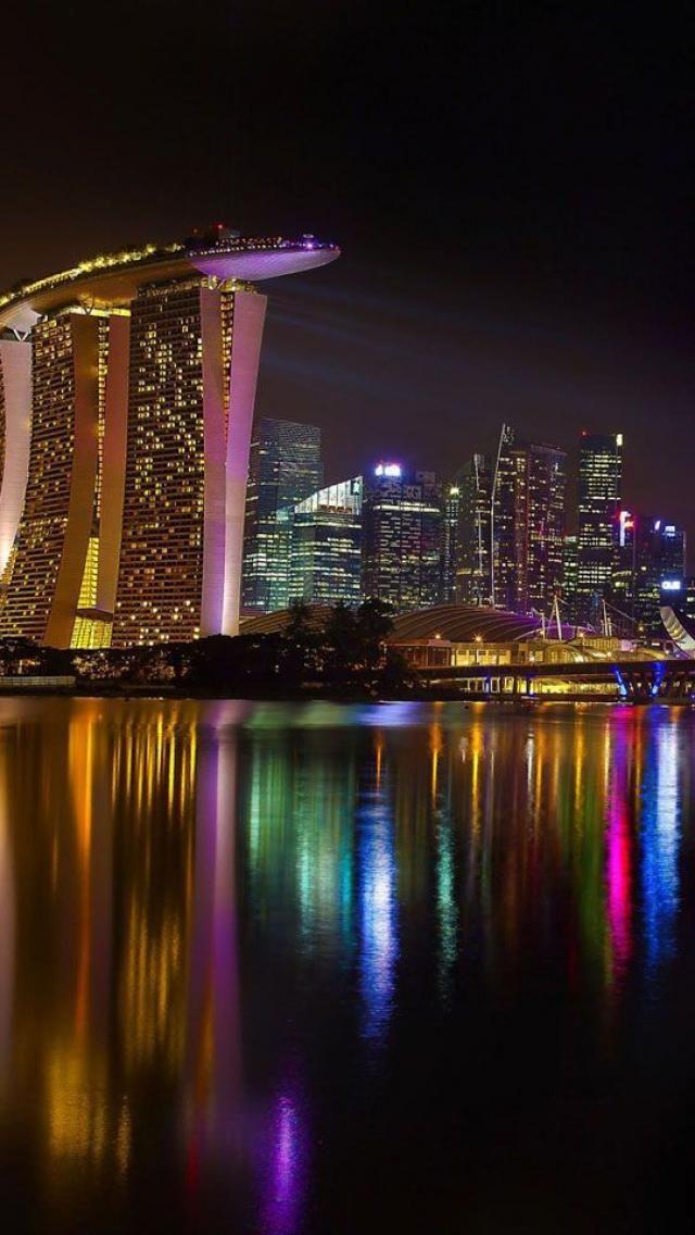 Singapore skyline iPhone Backgrounds Random things Pinterest