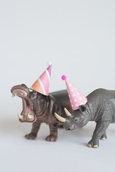 How to Make Party Hats for Plastic Animals  this heart of mine How to Make Party Hats for Plastic Animals  this heart of mine
