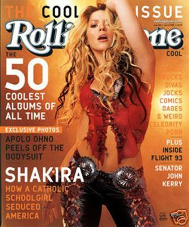 Shakira Rolling Stone Cover Music Poster