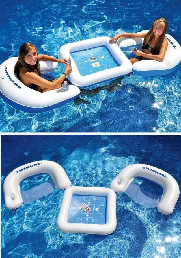 Super Cool Floating Game Table Pool Floats Pool Outdoor Decor