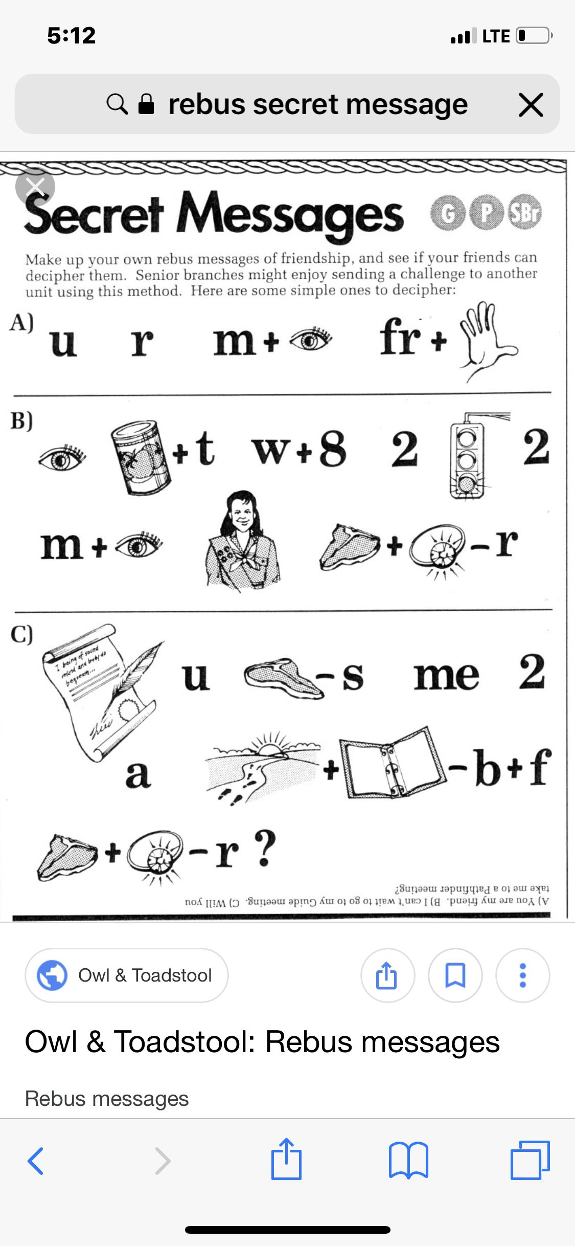 Secret Message Puzzle For Kids