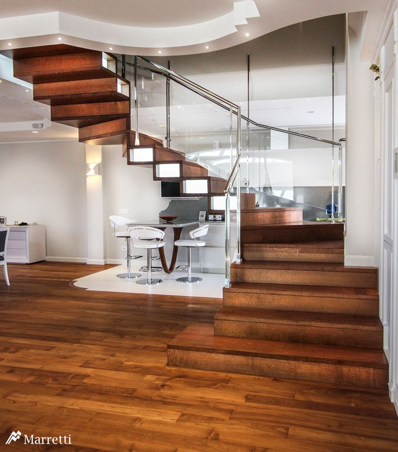 Best Wood Closed Structure Hanging Staircases Photo Gallery And 400 x 300