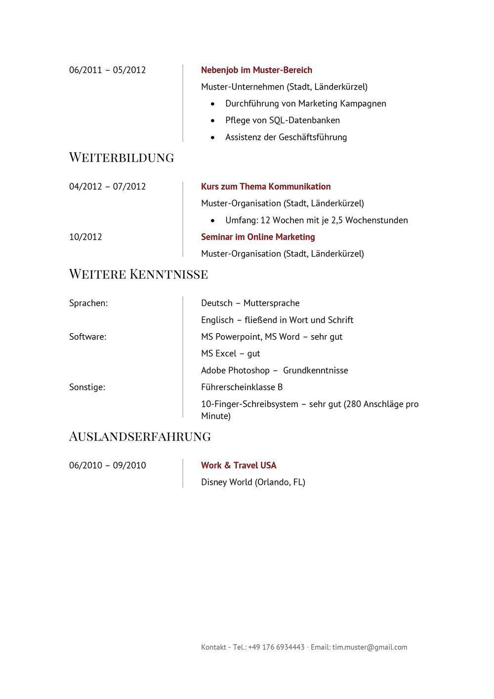 Lebenslauf Muster Vorlage Manager 2 | Bewerbung | Pinterest
