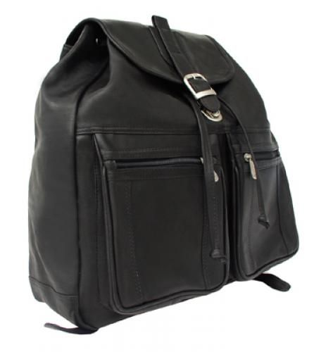 PIEL LEATHER: Drawstring Laptop Backpack.  Buy it @ ReadyGolf.com