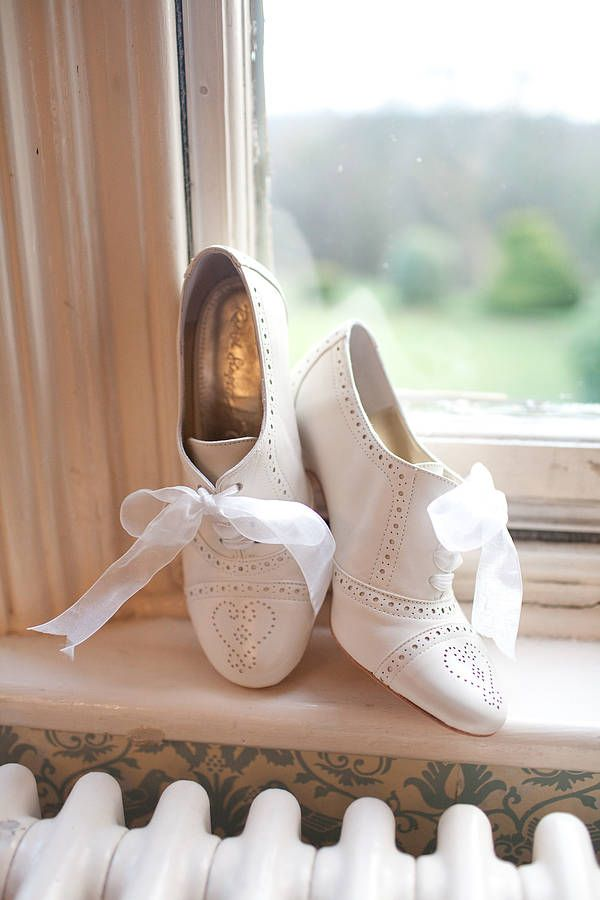 5daacb59bebb Olivia Leather Brogue Wedding Shoes in 2019